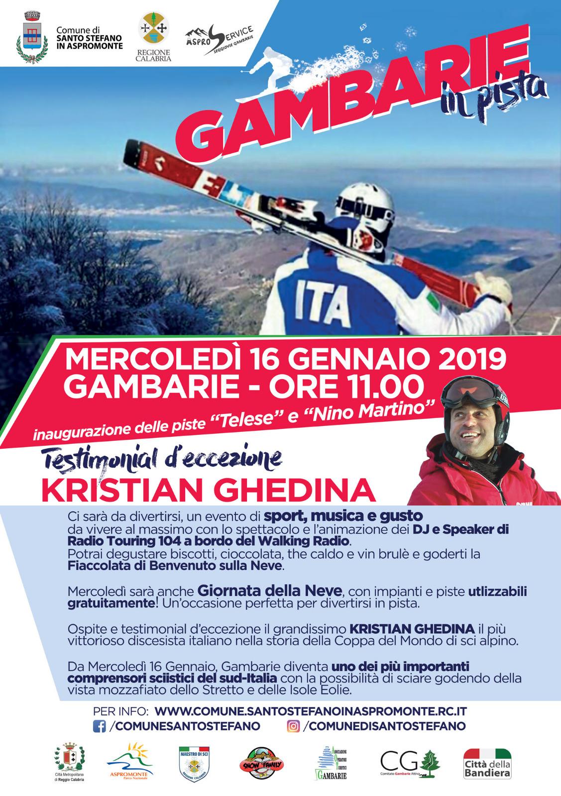 Gambarie in pista mercoledi 16 gennaio inaugurazione for Telese arredo